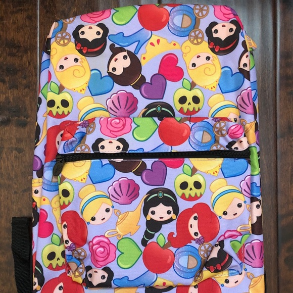 Disney Princess Emoji Print Backpack NWT